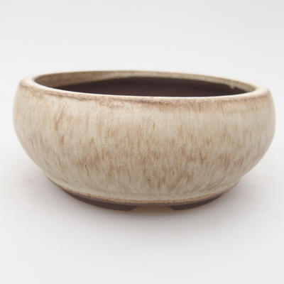 Ceramic bonsai bowl 10.5 x 10.5 x 4.5 cm, color beige - 1
