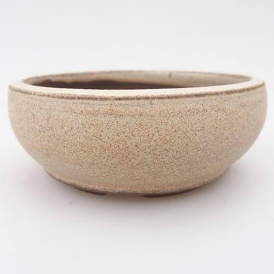 Ceramic bonsai bowl 11 x 11 x 4 cm, color beige - 1