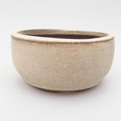 Ceramic bonsai bowl 10 x 10 x 5 cm, color beige - 1