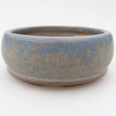 Ceramic bonsai bowl 10 x 10 x 3,5 cm, color blue - 1