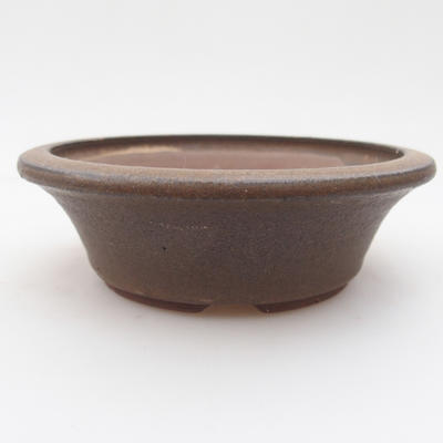 Ceramic bonsai bowl 12 x 12 x, 4 cm, brown color - 1