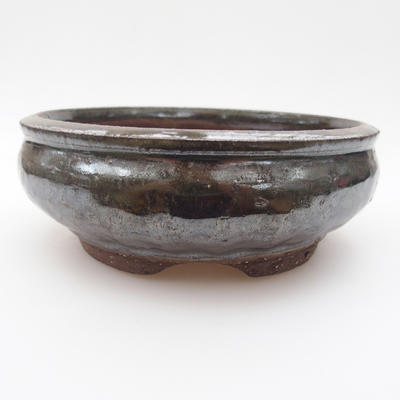 Ceramic bonsai bowl 15 x 15 x 5,5 cm, color green - 1