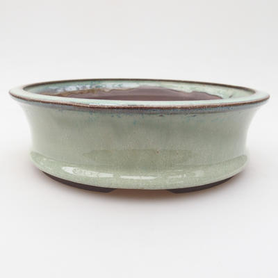 Ceramic bonsai bowl 18 x 18 x 5 cm, color green - 1