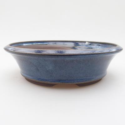Ceramic bonsai bowl 17 x 17 x 4,5 cm, color blue - 1