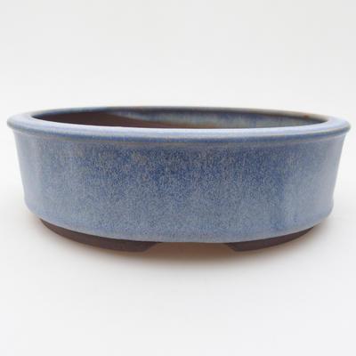 Ceramic bonsai bowl 16 x 16 x 4,5 cm, color blue - 1