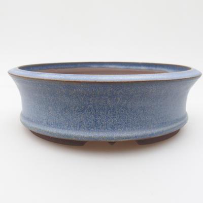 Ceramic bonsai bowl 16 x 16 x 5 cm, color blue - 1
