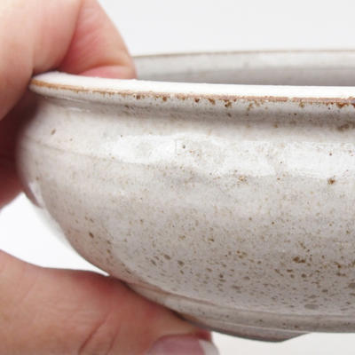 Ceramic bonsai bowl 15 x 15 x 5,5 cm, color white - 1