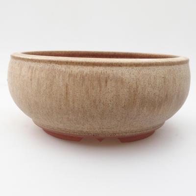 Ceramic bonsai bowl 15 x 15 x 6,5 cm, color beige - 1