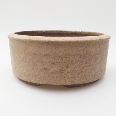 Ceramic bonsai bowl 16 x 16 x 6 cm, color beige - 1
