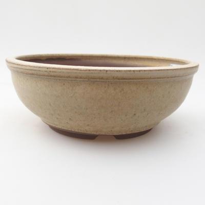 Ceramic bonsai bowl 16,5 x 16,5 x 6 cm, color beige - 1