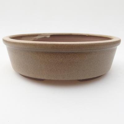 Ceramic bonsai bowl 15,5 x 15,5 x 4,5 cm, color beige - 1