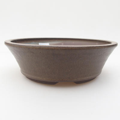 Ceramic bonsai bowl 17,5 x 17,5 x 5 cm, color gray - 1