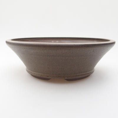 Ceramic bonsai bowl 18 x 18 x 5,5 cm, color gray - 1