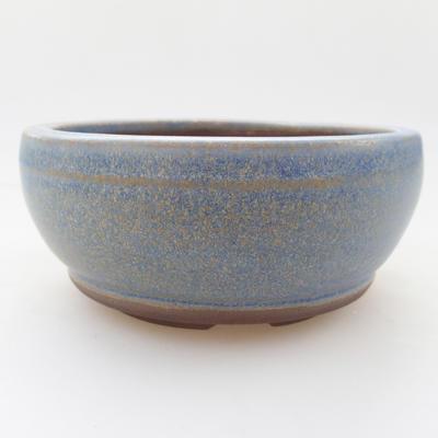 Ceramic bonsai bowl 10 x 10 x 4,5 cm, blue color - 1