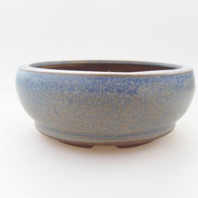 Ceramic bonsai bowl 10 x 10 x 4,5 cm, color blue - 1