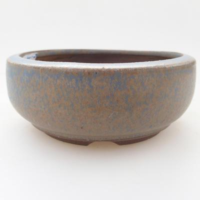 Ceramic bonsai bowl 10 x 10 x 4 cm, color blue - 1