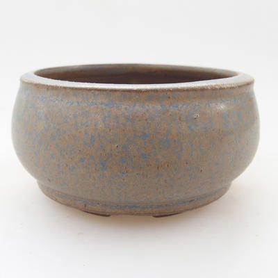 Ceramic bonsai bowl 9 x 9 x 5 cm, color blue - 1