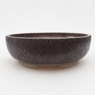 Ceramic bonsai bowl 18 x 18 x 6 cm, color brown - 1
