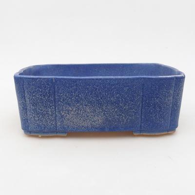 Ceramic bonsai bowl 20 x 17 x 6.5 cm, color blue - 1