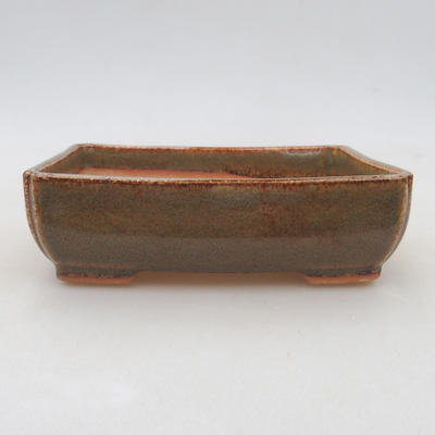 Ceramic bonsai bowl 13 x 10 x 4 cm, color green - 1