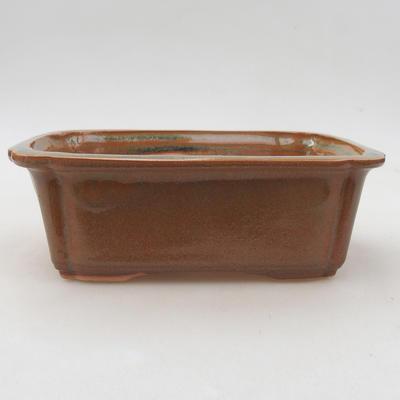 Ceramic bonsai bowl 17 x 12 x 5.5 cm, brown color - 1