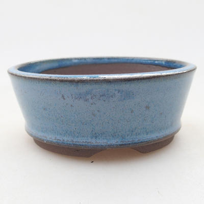 Ceramic bonsai bowl 9 x 9 x 3.5 cm, color blue - 1