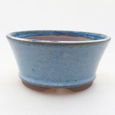 Ceramic bonsai bowl 10 x 10 x 4.5 cm, color blue - 1