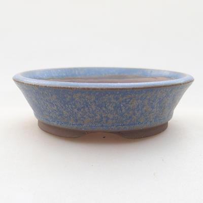 Ceramic bonsai bowl 9 x 9 x 2.5 cm, color blue - 1