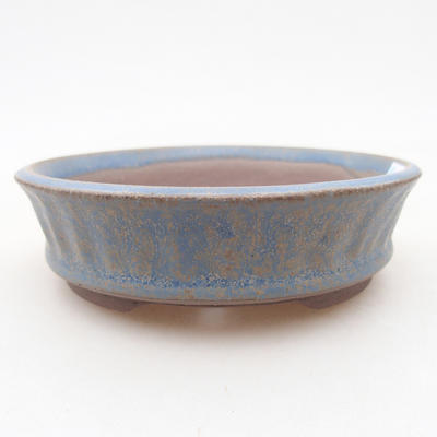 Ceramic bonsai bowl 10 x 10 x 3 cm, color blue - 1
