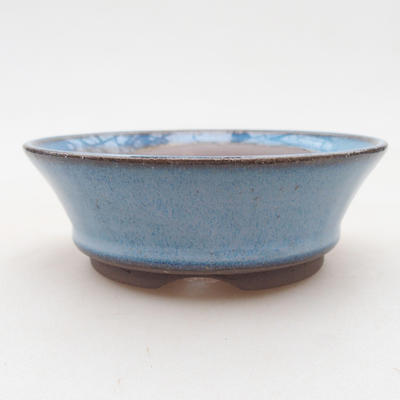 Ceramic bonsai bowl 10 x 10 x 3.5 cm, color blue - 1