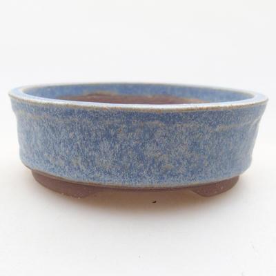 Ceramic bonsai bowl 8 x 8 x 3 cm, color blue - 1