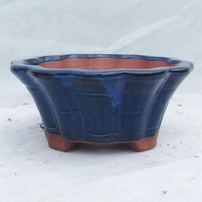 Bonsai bowl 22 x 22 x 10 cm, color blue - 1