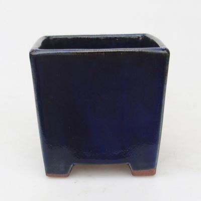Ceramic bonsai bowl 9 x 9 x 9 cm, color blue - 1
