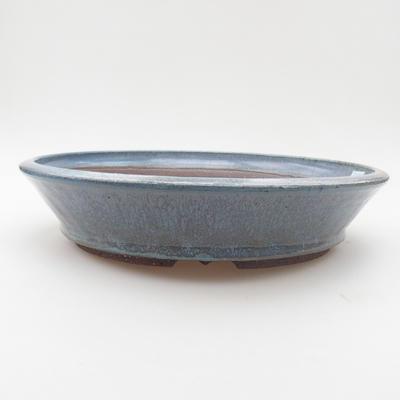 Ceramic bonsai bowl 26 x 26 x 5,5 cm, color blue - 1