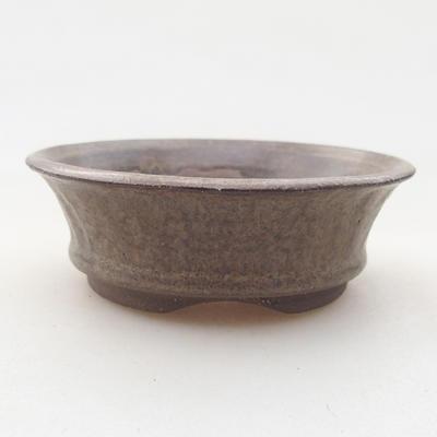 Ceramic bonsai bowl 8 x 8 x 2.5 cm, gray color - 1