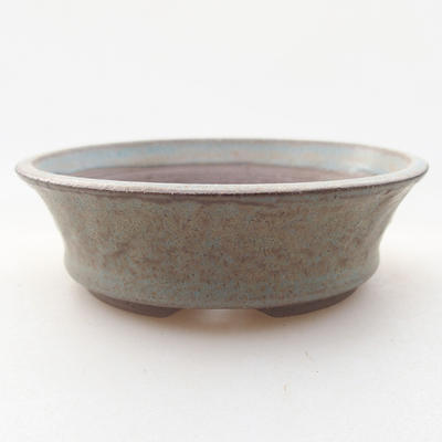 Ceramic bonsai bowl 9 x 9 x 3 cm, gray color - 1