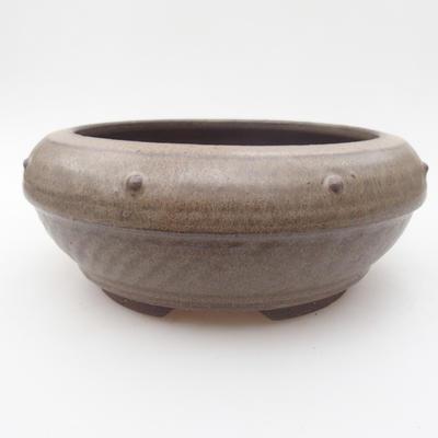 Ceramic bonsai bowl 17 x 17 x 7,5 cm, color gray - 1