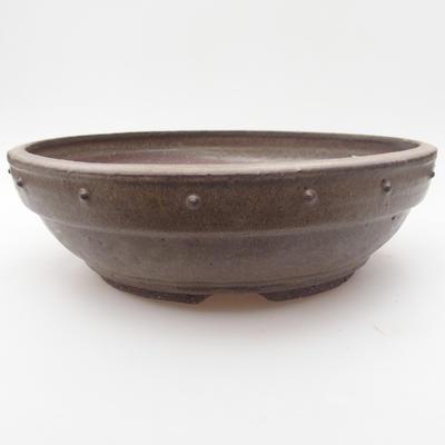 Ceramic bonsai bowl 24 x 24 x 7,5 cm, color gray - 1