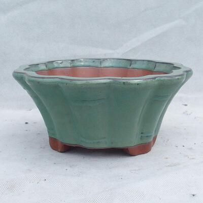 Bonsai bowl 22 x 22 x 10 cm, color green - 1