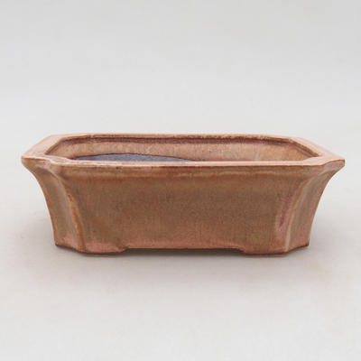 Ceramic bonsai bowl 13 x 10.5 x 4 cm, color pink - 1
