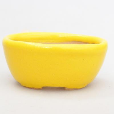 Mini bonsai bowl 4,5 x 3 x 2 cm, yellow color - 1