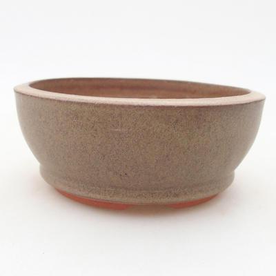 Ceramic bonsai bowl 11 x 11 x 4.5 cm, brown color - 1