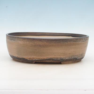 Bonsai bowl 34 x 27 x 10 cm, color beige - 1