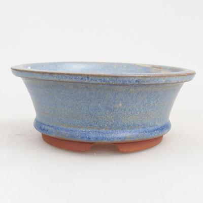Ceramic bonsai bowl 11 x 11 x 4 cm, color blue - 1