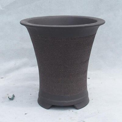 Bonsai bowl 20 x 20 x 20 cm, gray color - 1