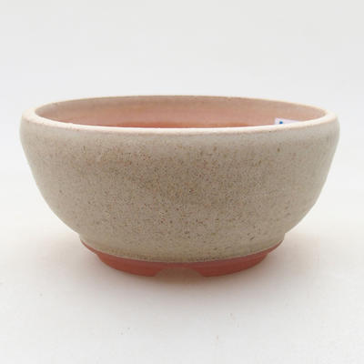 Ceramic bonsai bowl 10 x 10 x 5 cm, beige color - 1