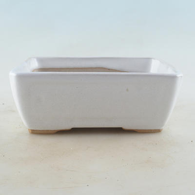 Ceramic bonsai bowl 16 x 12 x 6 cm, white color - 1