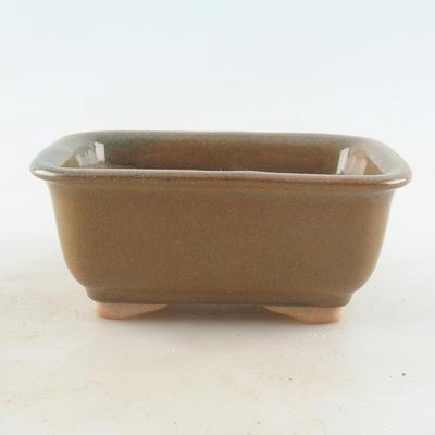 Ceramic bonsai bowl 13.5 x 10 x 6 cm, color gray-rusty - 1