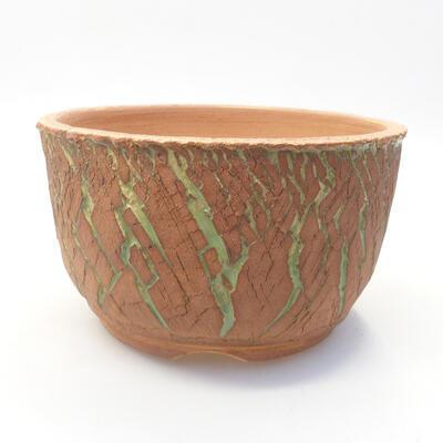 Ceramic bonsai bowl 14 x 14 x 8.5 cm, color cracked - 1