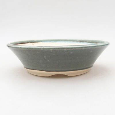 Ceramic bonsai bowl 18.5 x 18.5 x 5 cm, color green - 1